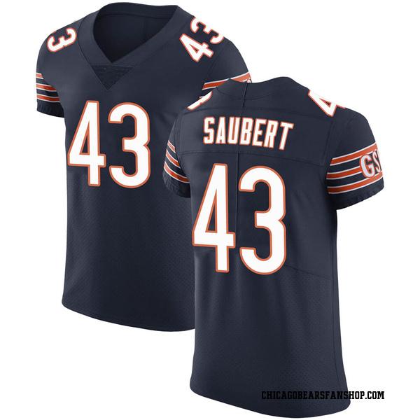 Eric Saubert Chicago Bears Elite Navy Team Color Vapor Untouchable Jersey