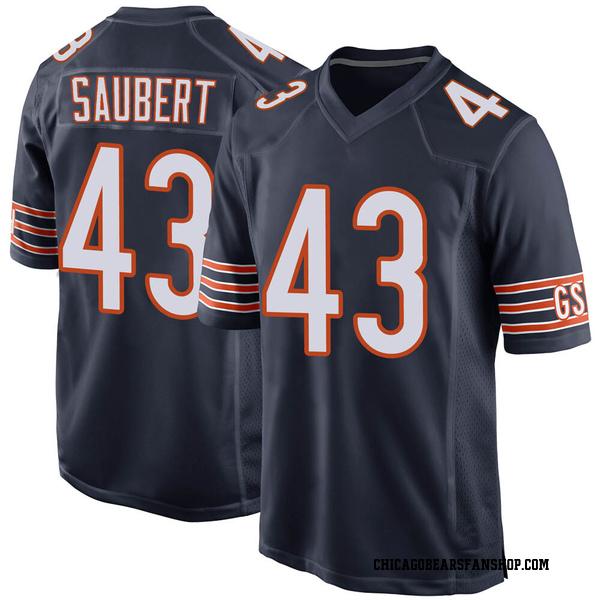 Eric Saubert Chicago Bears Game Navy 100th Season Jersey