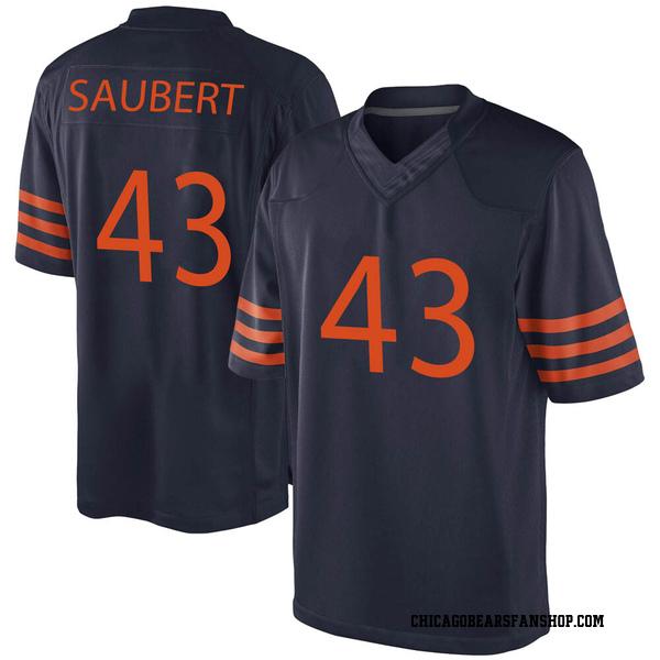 Eric Saubert Chicago Bears Game Navy Blue Alternate Jersey