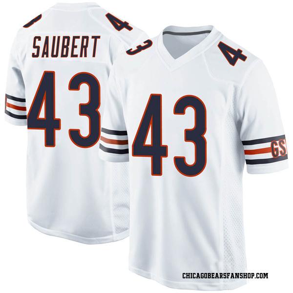 Eric Saubert Chicago Bears Game White 100th Season Jersey