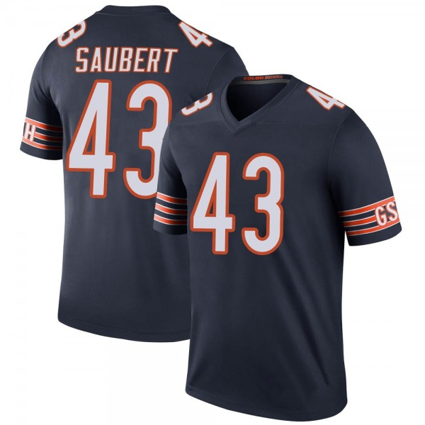Eric Saubert Chicago Bears Legend Navy Color Rush Jersey