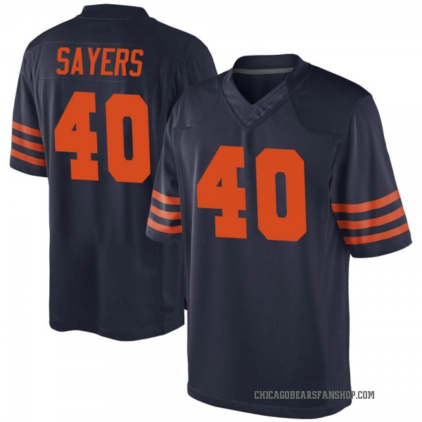 Gale Sayers Chicago Bears Game Navy Blue Alternate Jersey