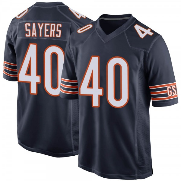 Gale Sayers Chicago Bears Game Navy Team Color Jersey