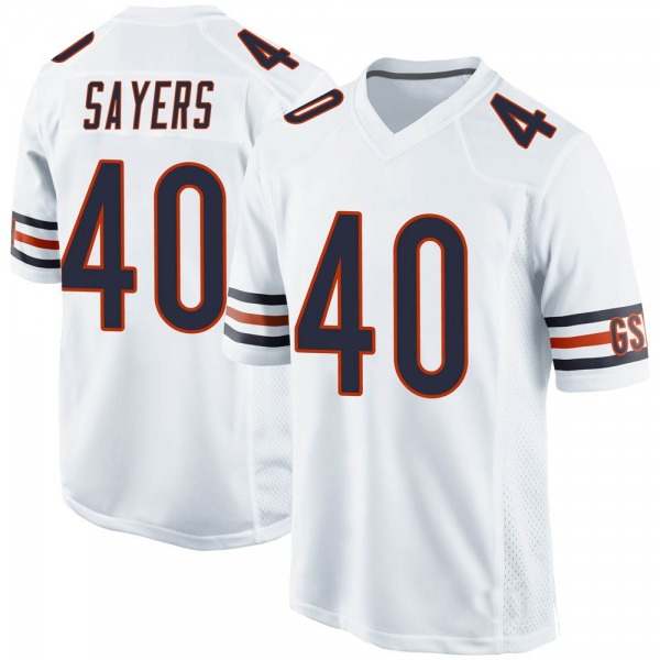 Gale Sayers Chicago Bears Game White Jersey