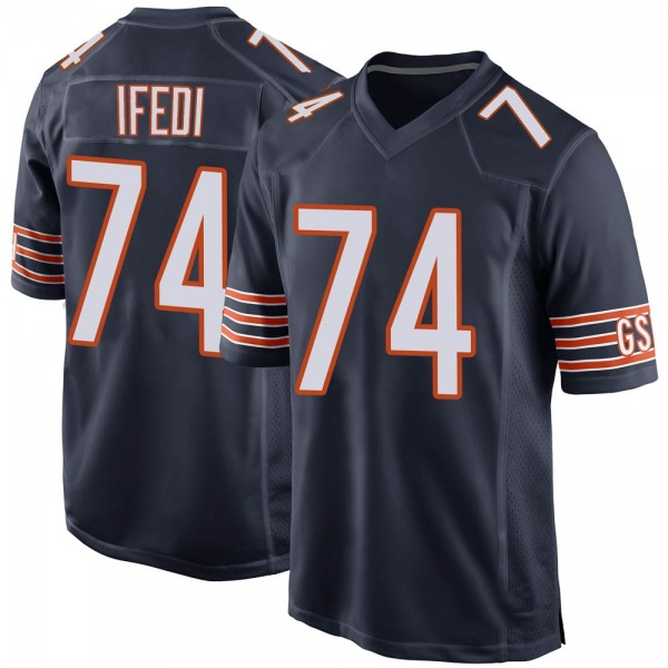 Germain Ifedi Chicago Bears Game Navy Team Color Jersey