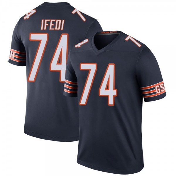Germain Ifedi Chicago Bears Legend Navy Color Rush Jersey