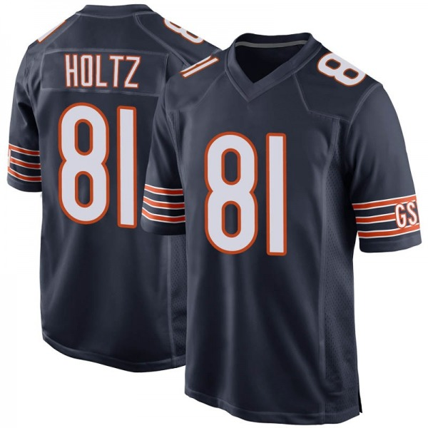 J.P. Holtz Chicago Bears Game Navy 100th Season Jersey