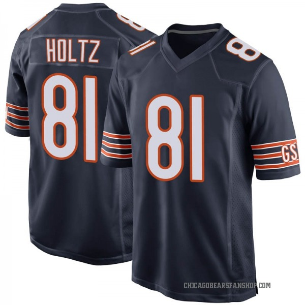 J.P. Holtz Chicago Bears Game Navy Team Color Jersey