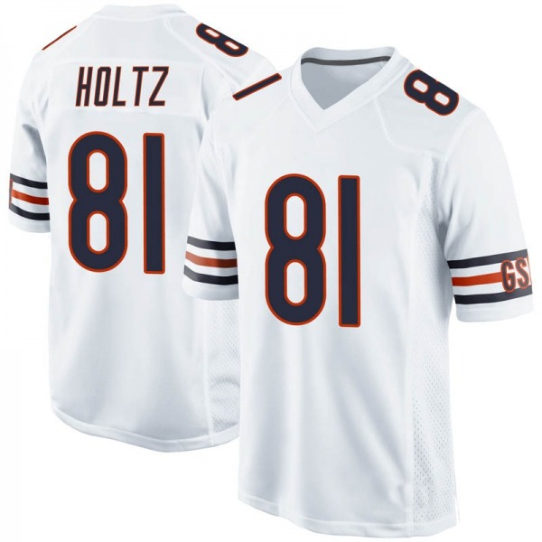 J.P. Holtz Chicago Bears Game White 100th Season Jersey