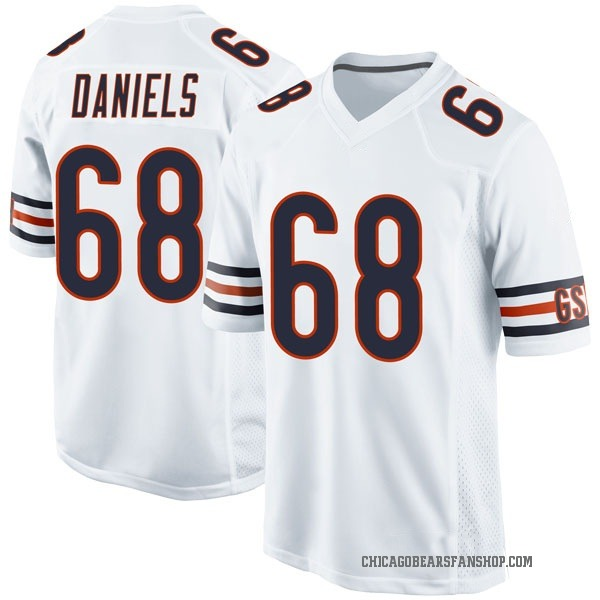 James Daniels Chicago Bears Game White Jersey