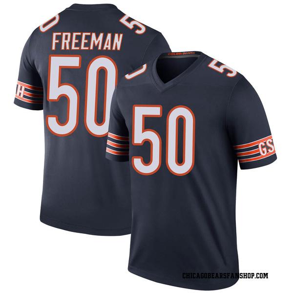 Jerrell Freeman Chicago Bears Legend Navy Color Rush Jersey