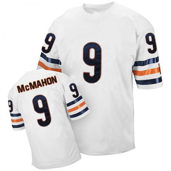 Jim McMahon Chicago Bears Authentic White Mitchell And Ness Small Number Throwback Jersey