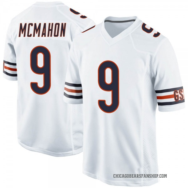 Jim McMahon Chicago Bears Game White Jersey