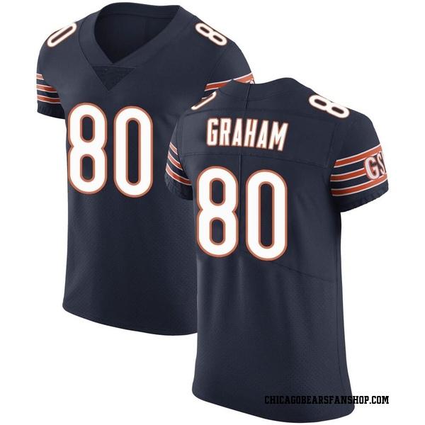 Jimmy Graham Chicago Bears Elite Navy Team Color Vapor Untouchable Jersey