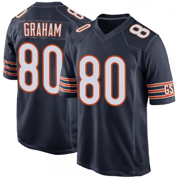 Jimmy Graham Chicago Bears Game Navy Team Color Jersey