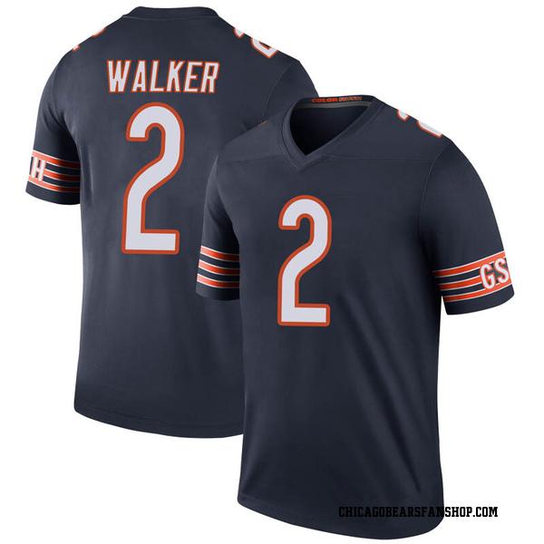 Joe Walker Chicago Bears Legend Navy Color Rush Jersey