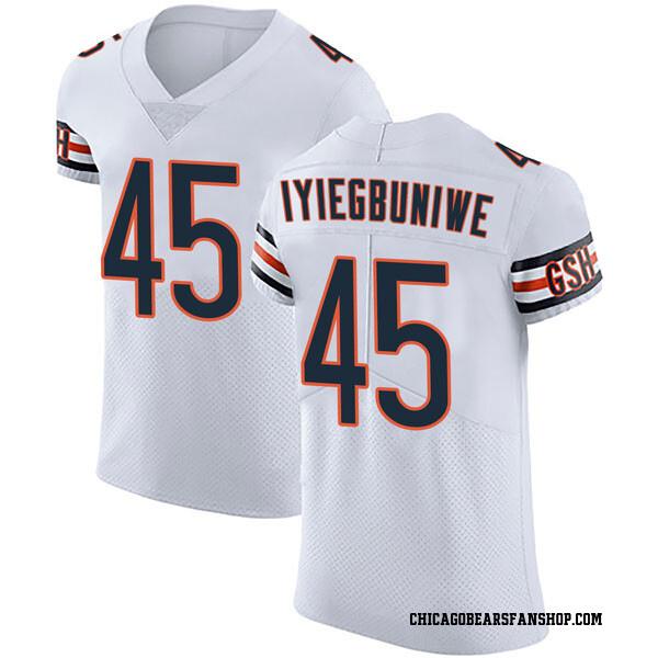 Joel Iyiegbuniwe Chicago Bears Elite White Vapor Untouchable Jersey
