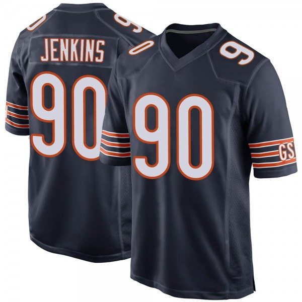 John Jenkins Chicago Bears Game Navy Team Color Jersey