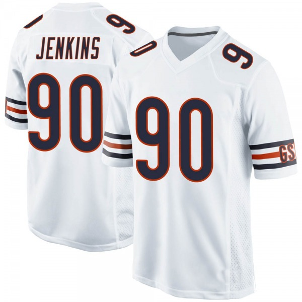 John Jenkins Chicago Bears Game White Jersey