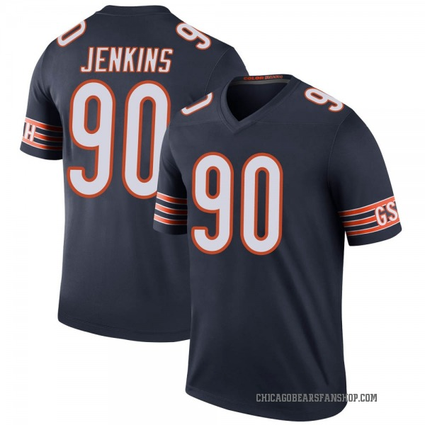 John Jenkins Chicago Bears Legend Navy Color Rush Jersey