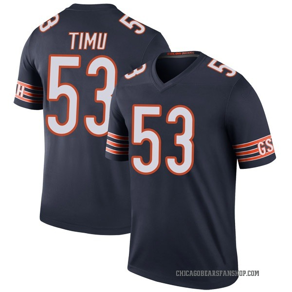 John Timu Chicago Bears Legend Navy Color Rush Jersey