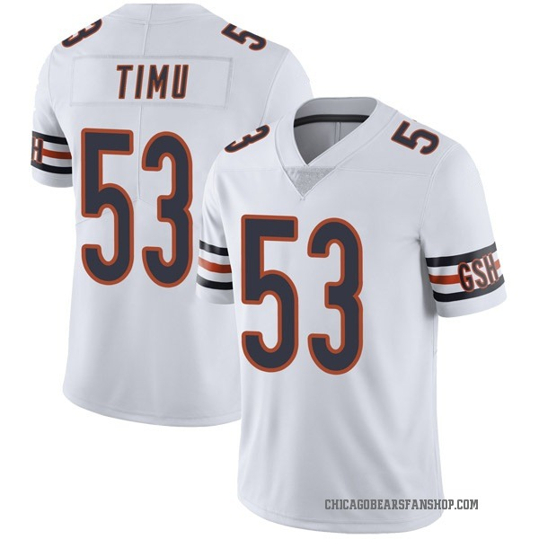 John Timu Chicago Bears Limited White Vapor Untouchable Jersey