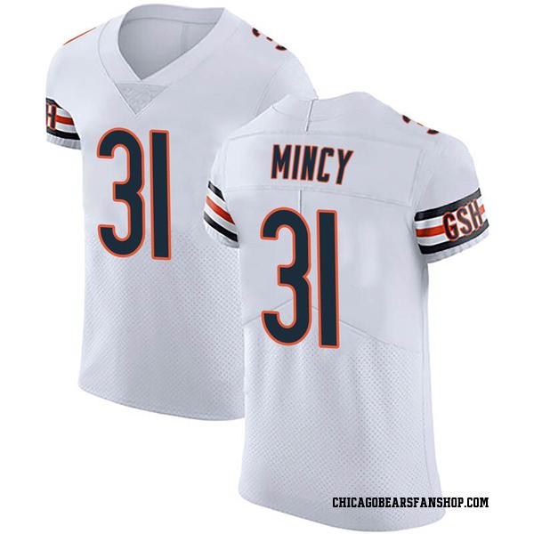 Jonathon Mincy Chicago Bears Elite White Vapor Untouchable Jersey