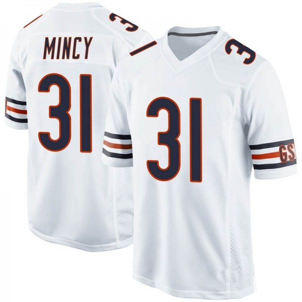 Jonathon Mincy Chicago Bears Game White Jersey