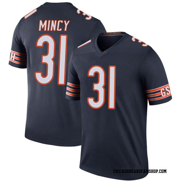 Jonathon Mincy Chicago Bears Legend Navy Color Rush Jersey