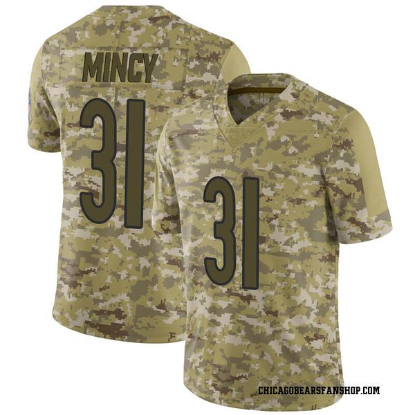 Jonathon Mincy Chicago Bears Limited Camo 2018 Salute to Service Jersey