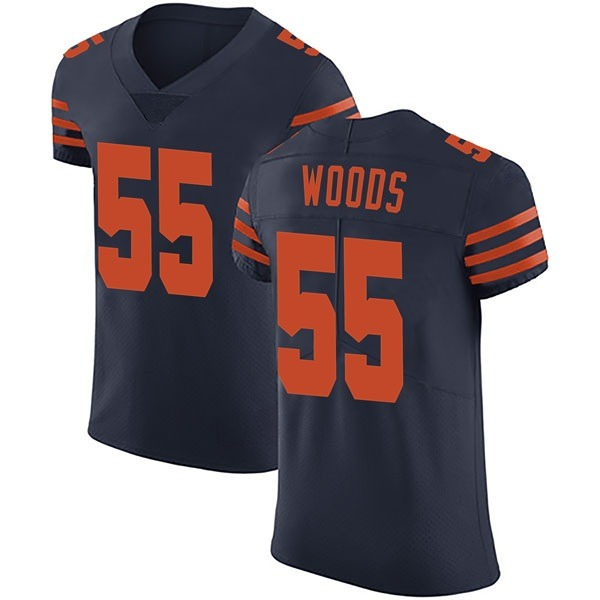 Josh Woods Chicago Bears Elite Navy Blue Alternate Vapor Untouchable Jersey