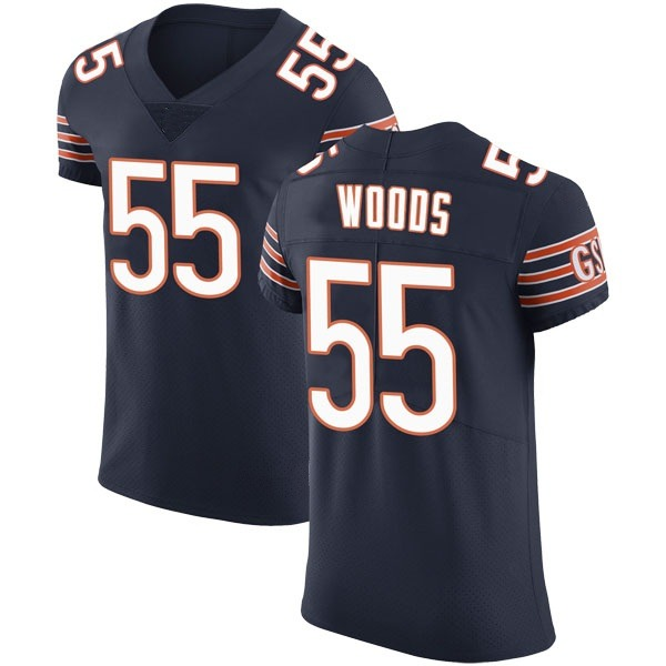 Josh Woods Chicago Bears Elite Navy Team Color Vapor Untouchable Jersey