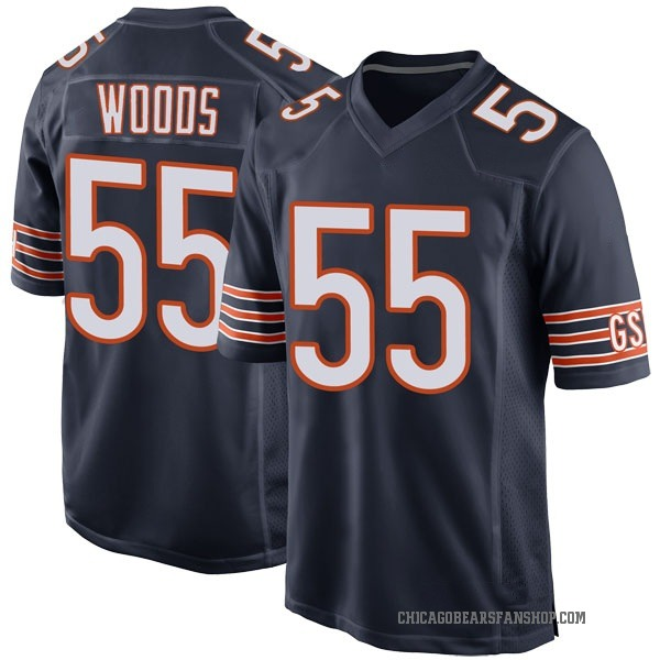 Josh Woods Chicago Bears Game Navy Team Color Jersey