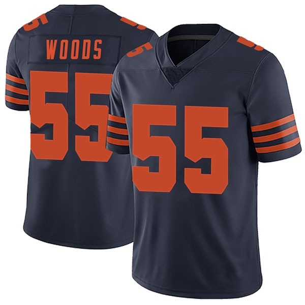 Josh Woods Chicago Bears Limited Navy Blue Alternate Vapor Untouchable Jersey