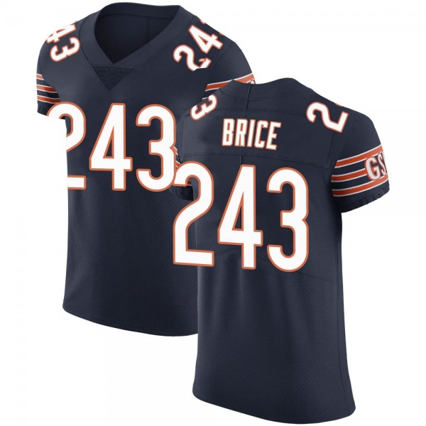 Kentrell Brice Chicago Bears Elite Navy 3 Team Color Vapor Untouchable Jersey
