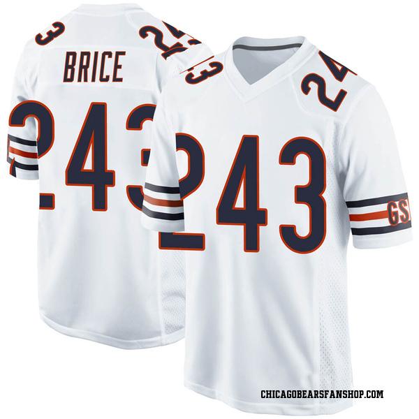 Kentrell Brice Chicago Bears Game White 3 Jersey