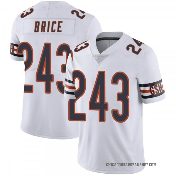 Kentrell Brice Chicago Bears Limited White 3 Vapor Untouchable Jersey