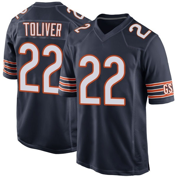 Kevin Toliver Chicago Bears Game Navy Team Color Jersey