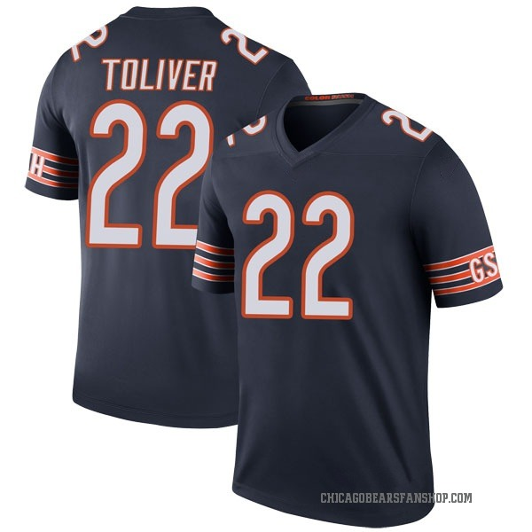 Kevin Toliver Chicago Bears Legend Navy Color Rush Jersey
