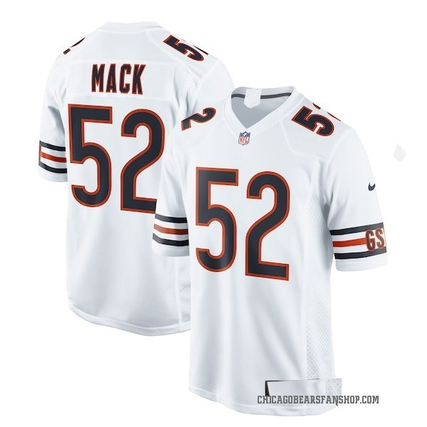 Khalil Mack Chicago Bears Game White Jersey