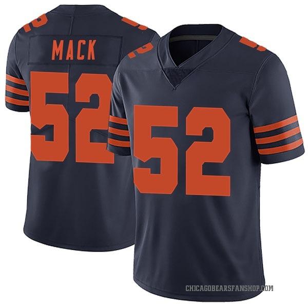Khalil Mack Chicago Bears Limited Navy Blue Alternate Vapor Untouchable Jersey