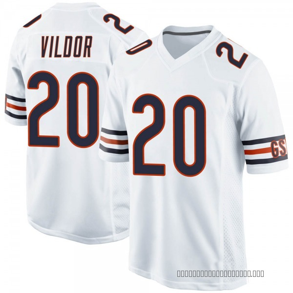 Kindle Vildor Chicago Bears Game White Jersey