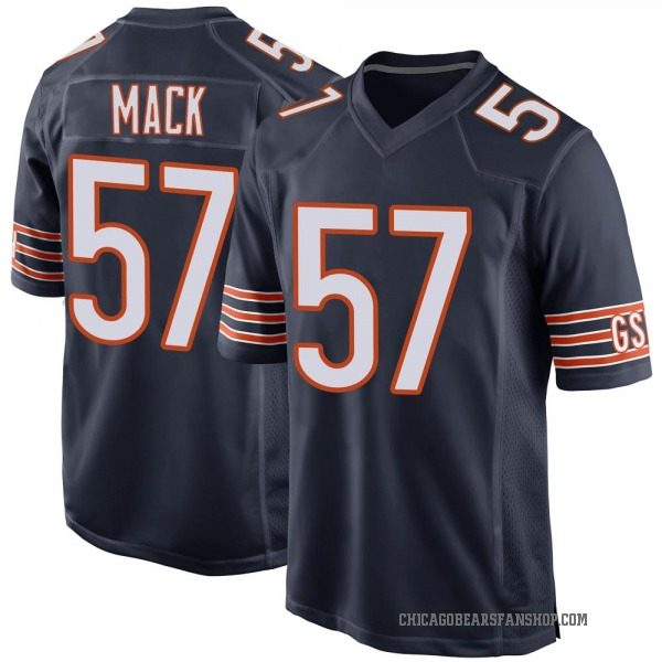 Ledarius Mack Chicago Bears Game Navy Team Color Jersey