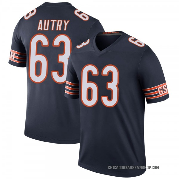 Lee Autry Chicago Bears Legend Navy Color Rush Jersey