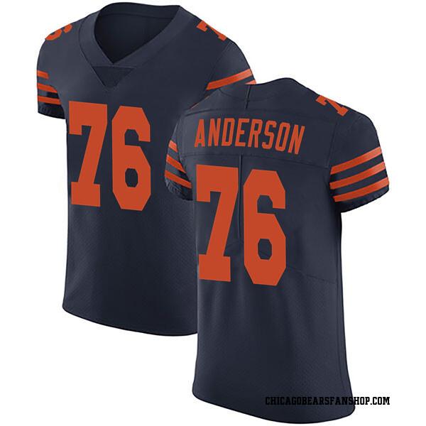 Men's Abdullah Anderson Chicago Bears Elite Navy Blue Alternate Vapor Untouchable Jersey