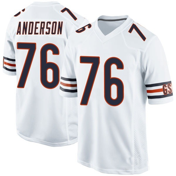 Men's Abdullah Anderson Chicago Bears Game White Jersey