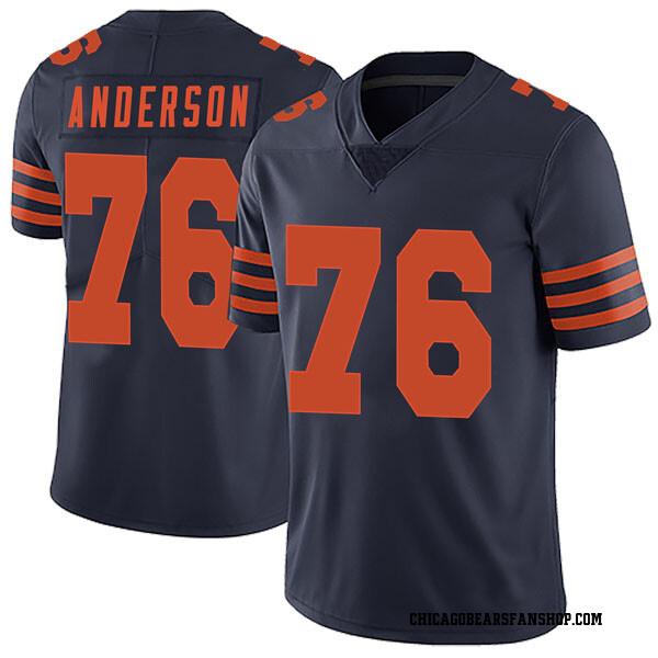 Men's Abdullah Anderson Chicago Bears Limited Navy Blue Alternate Vapor Untouchable Jersey
