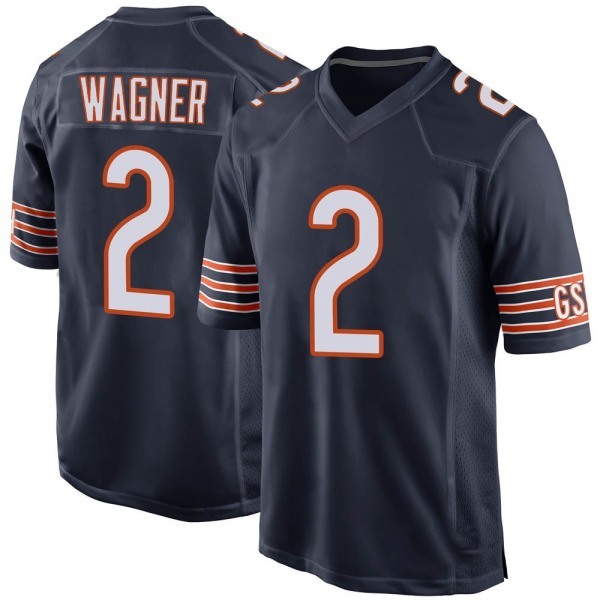 Men's Ahmad Wagner Chicago Bears Game Navy Team Color Jersey