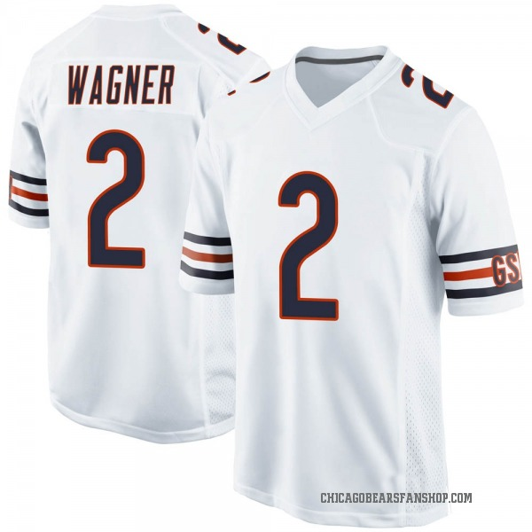 Men's Ahmad Wagner Chicago Bears Game White Jersey