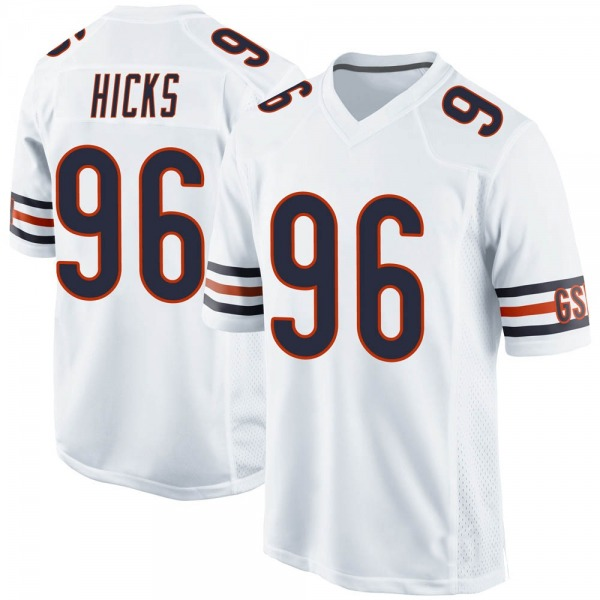 Men's Akiem Hicks Chicago Bears Game White Jersey